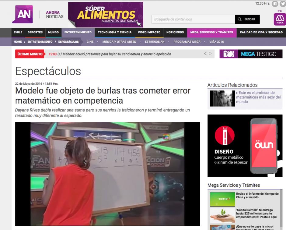 Las imágenes del error se viralizan en la red. (Captura de pantalla: Ahora Noticias)