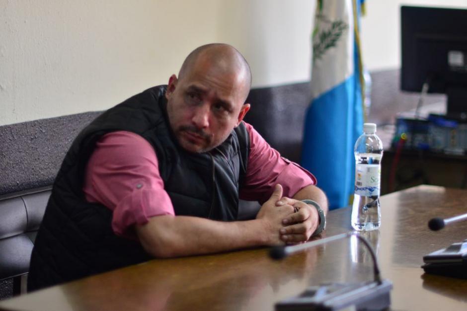 """Marlon Francisco Monroy Meoño alias """"El Fantasma"""" fue trasladado a Tribunales para una audiencia donde conocería las pruebas de EE.UU. en su contra. (Foto: Jesús Alfonso/Soy502)"""