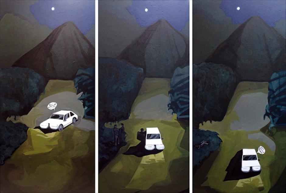 """De la serie Crónicas, """"Noche"""", de David Pérez Karma Davis. (Foto: El Azar Cultural)"""