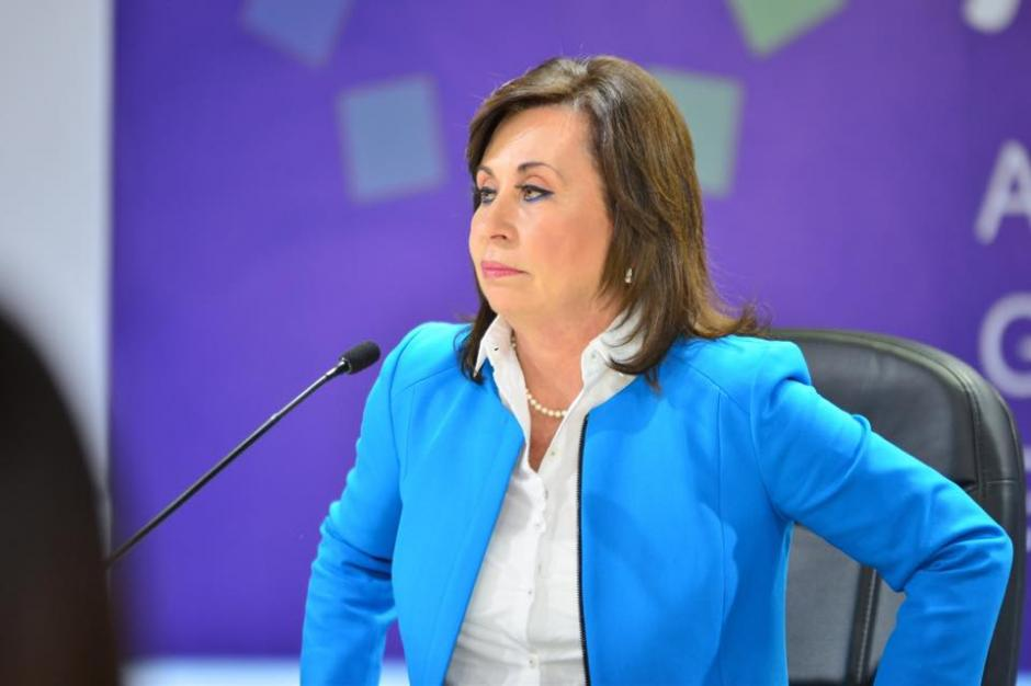 Sandra Torres la candidata a la presidencia por el partido Unidad Nacional de la Esperanza (UNE), mostró una actitud retadora ante su rival. (Foto: Jesús Alfonso/Soy502)