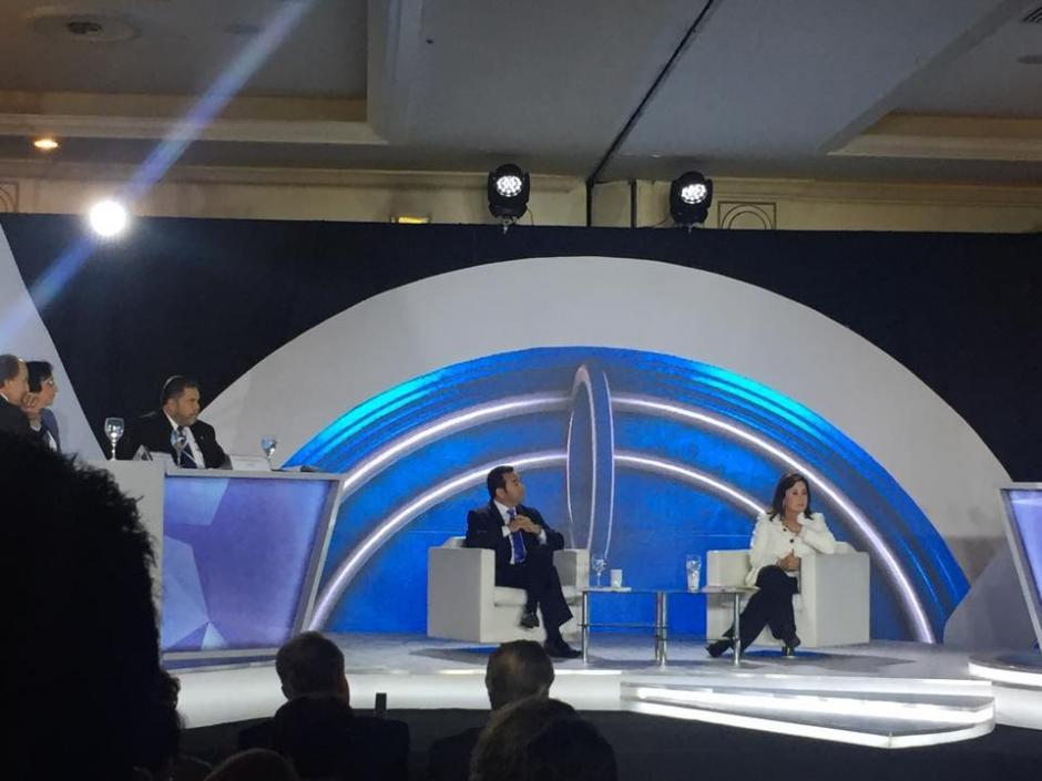 El debate se desarrolló en el Hotel Camino Real y fue transmitido por la televisión abierta. (Foto: Jesús Alfonso/Soy502)