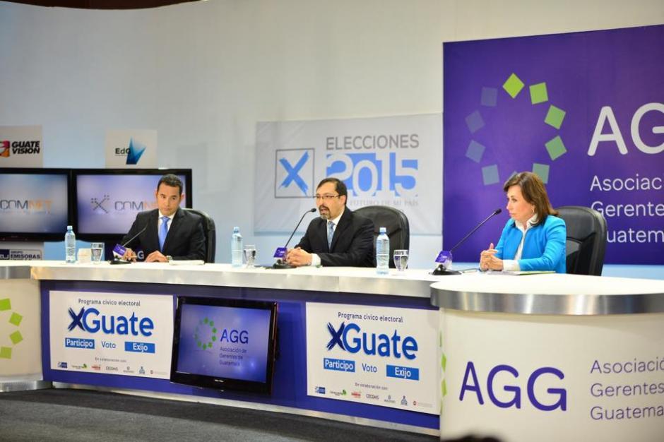 El debate de la Asociación de Gerentes de Guatemala (AGG) se desarrolló este miércoles 14 de octubre de 2015, a 10 días de la segunda vuelta. (Foto: Jesús Alfonso/Soy502)