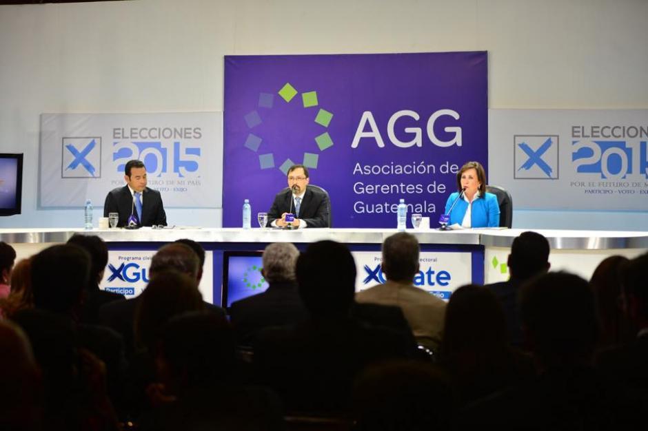 Los asistentes en el debate de la Asociación de Gerentes de Guatemala entre los dos candidatos que pelearán la presidencia del país en la segunda vuelta. (Foto: Jesús Alfonso/Soy502)