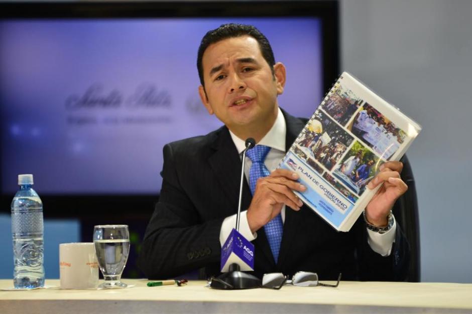 El plan K´atun 2032 de Segeplan fue el argumento principal de Jimmy Morales para su gobierno. (Foto: Jesús Alfonso/Soy502)