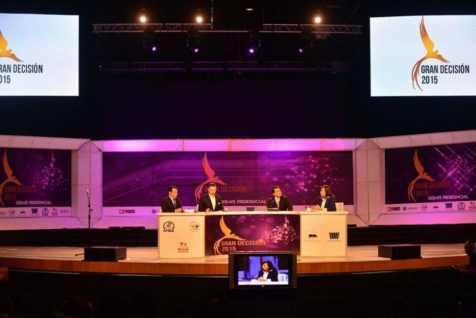 Este es el último debate antes de la segunda vuelta electoral que se realizará el próximo domingo. (Foto: Wilder López/Soy502)