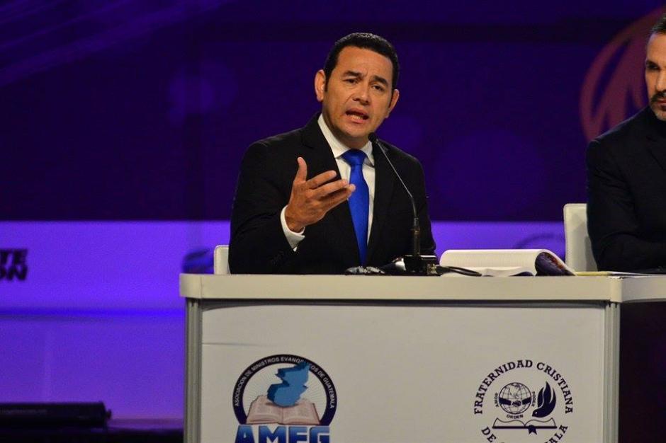 En el Debate Gran Decisión participa Jimmy Morales del partido FCN-Nación. (Foto: Wilder López/Soy502)