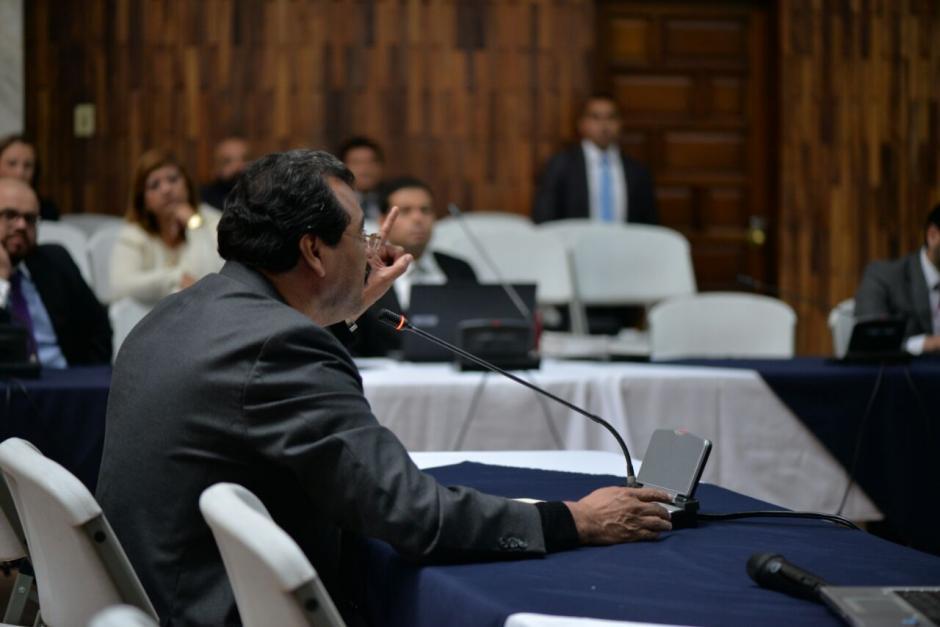 Calderón tardó 20 minutos en presentar su defensa técnica.  (Foto: Wilder López/Soy502)