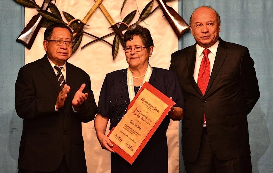 La escritora Delia Quiñónez fue galardonada con el Premio Nacional de Literatura. (Foto: Selene Mejía/Soy502)