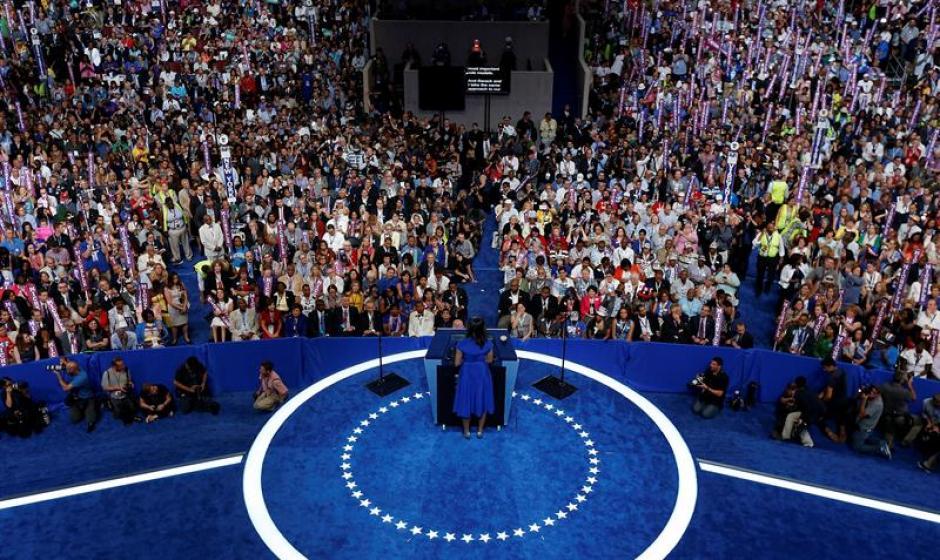 El discurso de la primera Dama, Michelle Obama conmovió a los asistentes a la Convención Demócrata. (Foto: Efe)