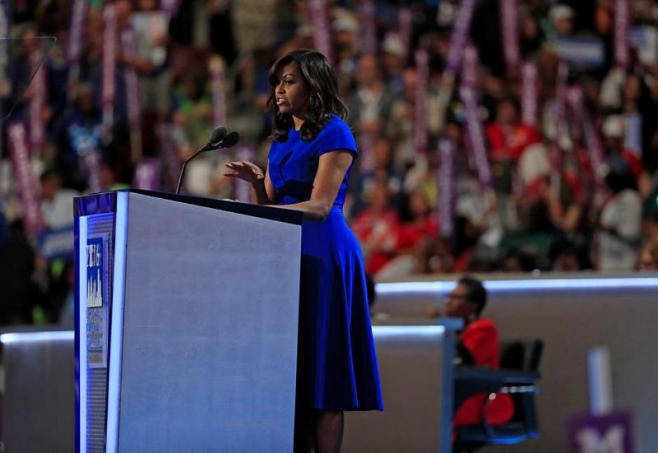 La primera dama de Estados Unidos, Michelle Obama, durante la primera jornada de la Convención Nacional Demócrata. (Foto: Efe)