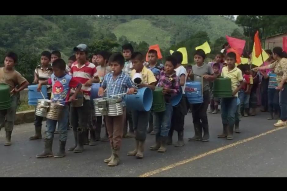 Este fue el primer video publicado de los menores de Sejol, Alta Verapaz. (Foto: Captura de Campaña)