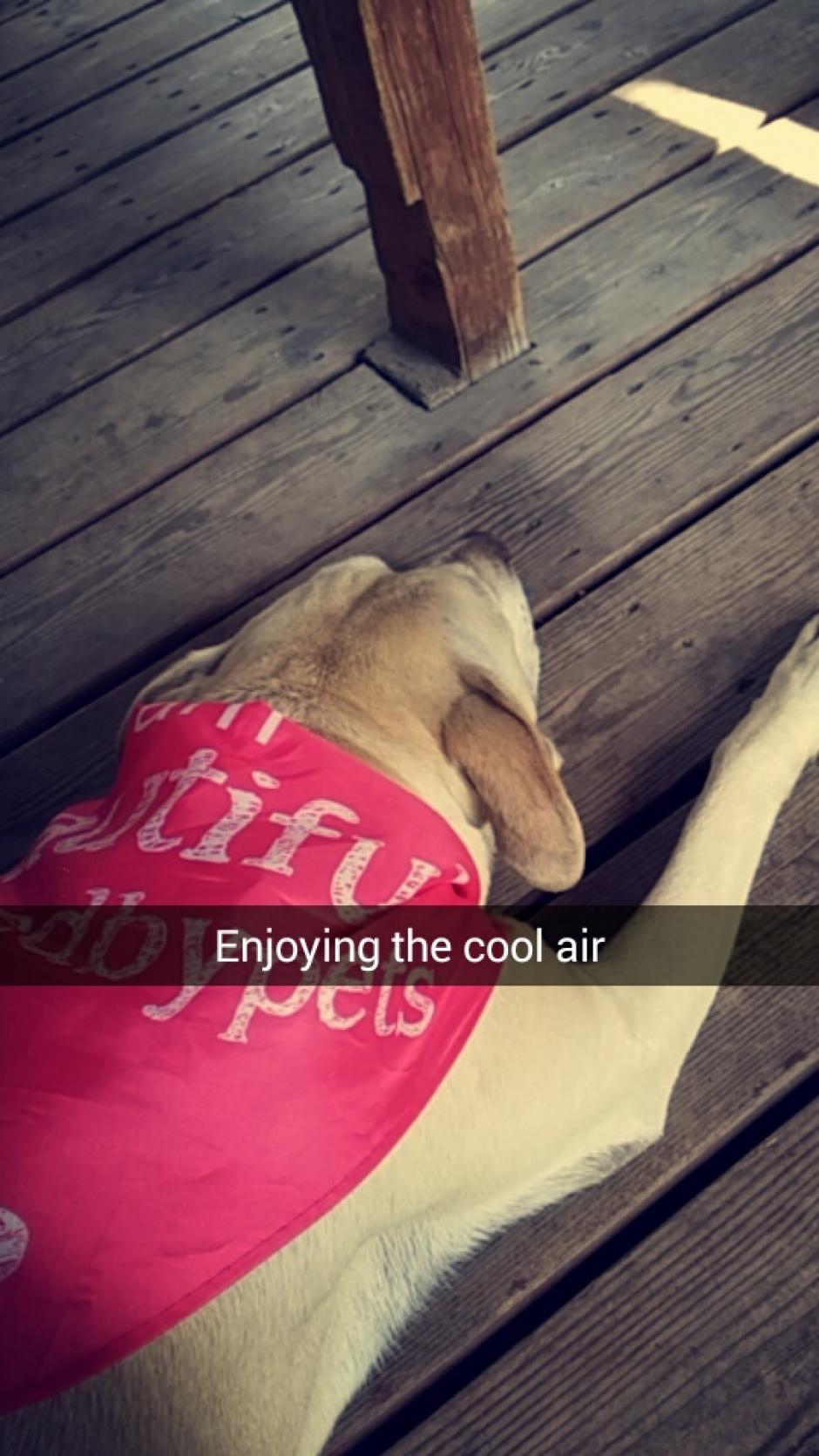 Disfrutó un momento de descanso. (Foto: Snapchat)
