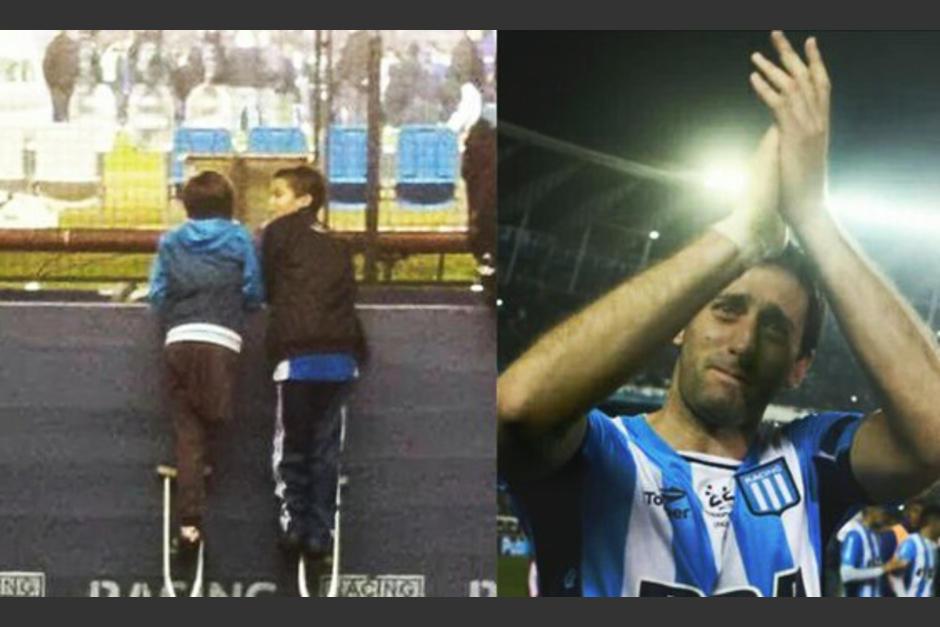 Foto de amistad de dos niños en argentina