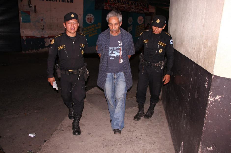 Un supuesto robafurgones fue capturado en la carretera antigua hacia el Puerto de San José. (Foto: PNC)
