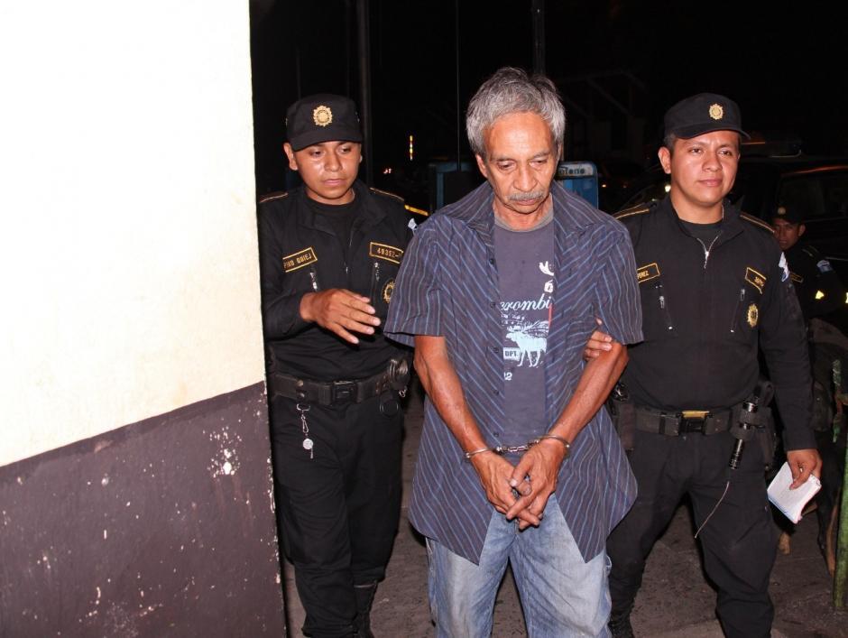 El detenido tiene 12 antecedentes policiacos.  (Foto: PNC)