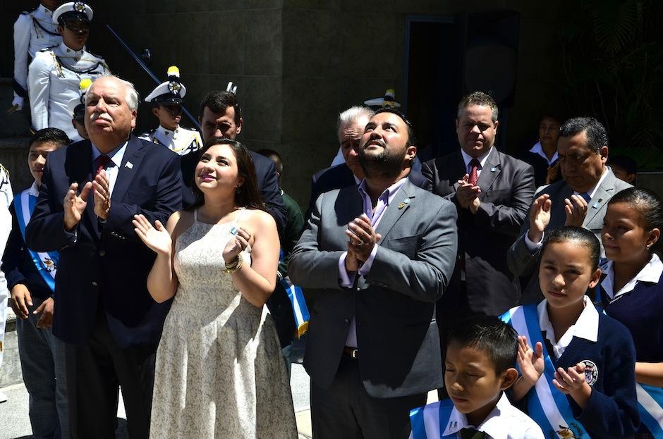 Junto a su esposa María José Morales se llenaron de alegría. (Foto: Selene Mejía/Soy502)