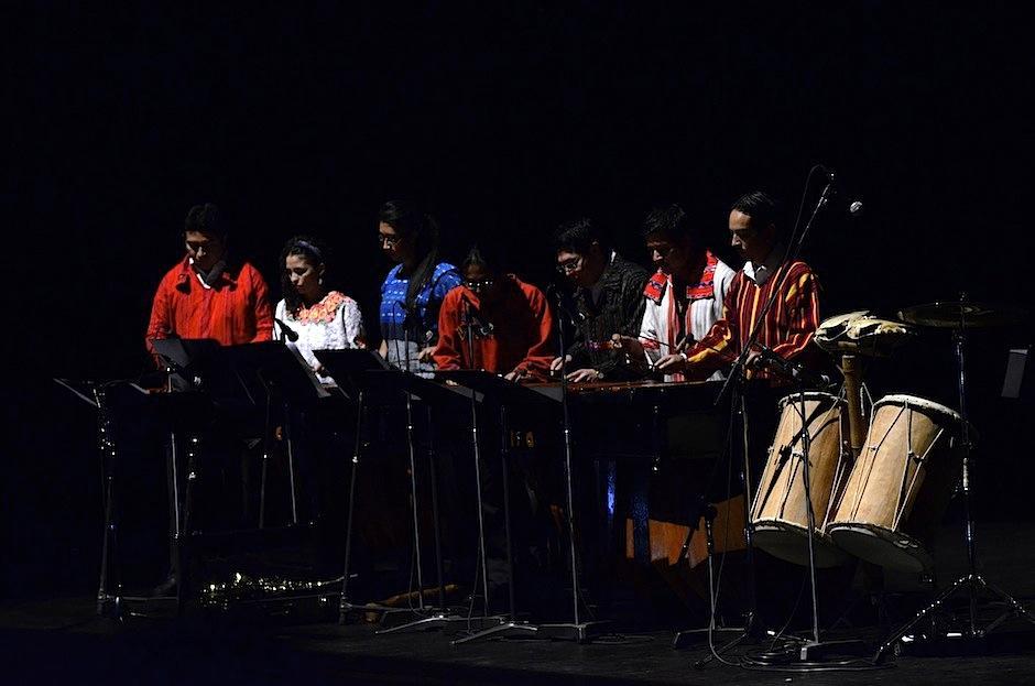 La Marimba de Concierto de Bellas Artes hizo un recorrido por la infancia del público. (Foto: Selene Mejía/Soy502)