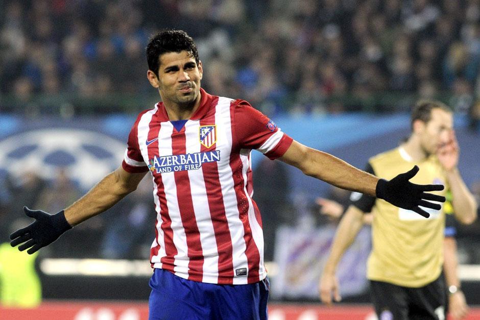 El hispano-brasileño Diego Costa está teniendo una excelente temporada con el Atlético de Madrid. (Foto: EFE)
