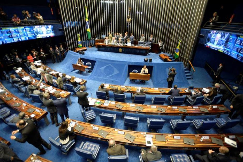 Vista general del Senado brasileño durante la apertura de la primera sesión de la fase final del juicio político contra la mandataria Dilma Rousseff. (Foto: Efe)