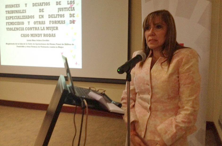 Dina Ochoa fue designada por Jimmy Morales como magistrada titular a la CC. (Foto: Archivo/Soy502)