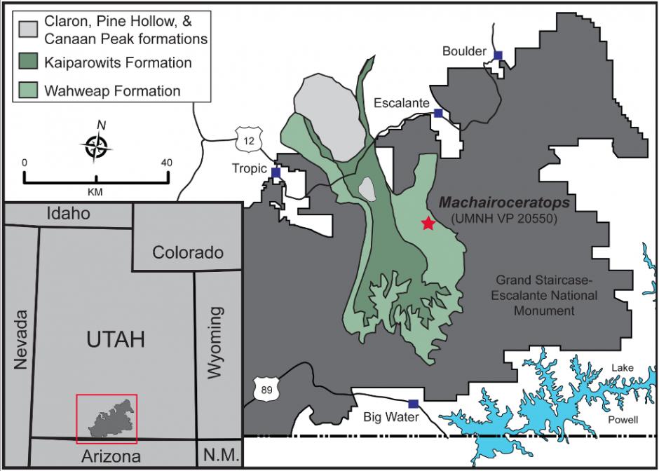 El descubrimiento, tuvo lugar en el parque nacional de Grand Staircase-Escalante National Monument en el estado de Utah, Estados Unidos. (Imagen: journals.plos.org)