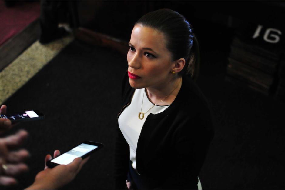 Daniela Beltranena asumió como diputada luego de la renuncia de Pedro Muadi, quien guarda prisión preventiva. (Foto: Wilder López/Soy502)
