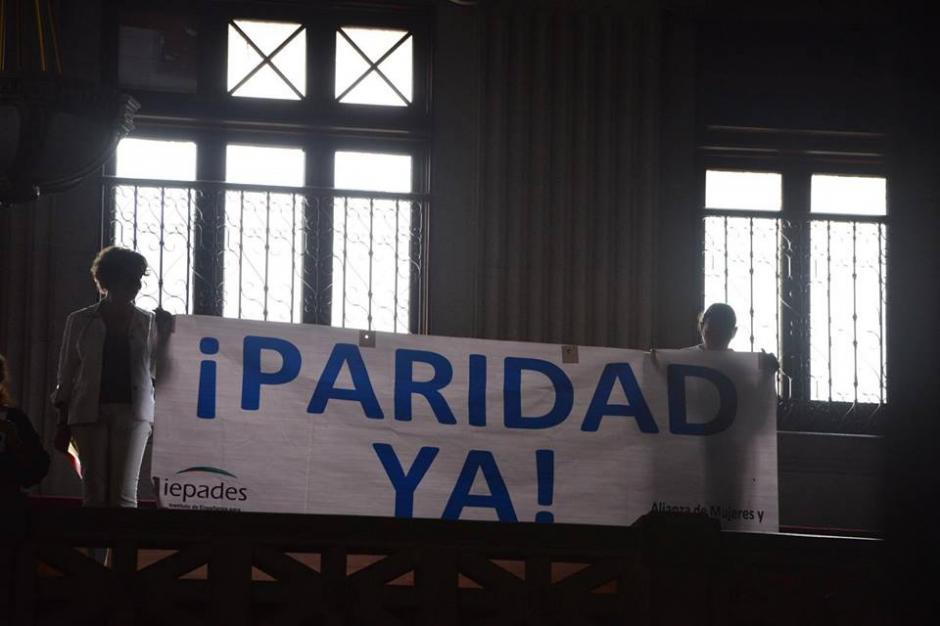 La organización Iepades también pidió la paridad de género. (Foto: Jesús Alfonso/Soy502)