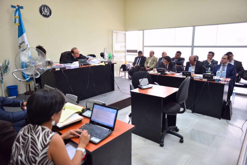 Esta es la sala del juez Walter Villatoro donde se desarrolló la audiencia. (Foto: Jesús Alfonso/Soy502)