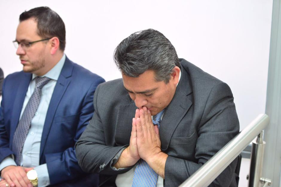 El exdiputado Edgar Cristiani al momento de escuchar las medidas sustitutivas a su favor. (Foto: Jesús Alfonso/Soy502)