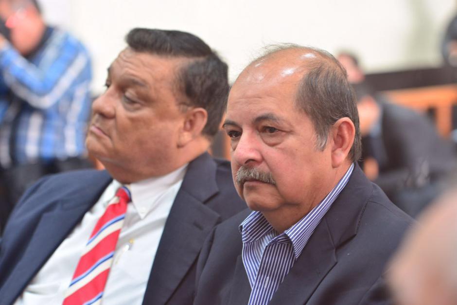 El exdiputado Carlos Herrera y el exlegislador Alfredo Rabbé durante audiencia. (Foto: Jesús Alfonso/Soy502)