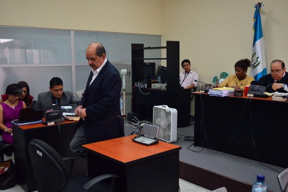 La audiencia de primera declaración la desarrolló el juez Walter Villatoro. (Foto: Jesús Alfonso/Soy502)