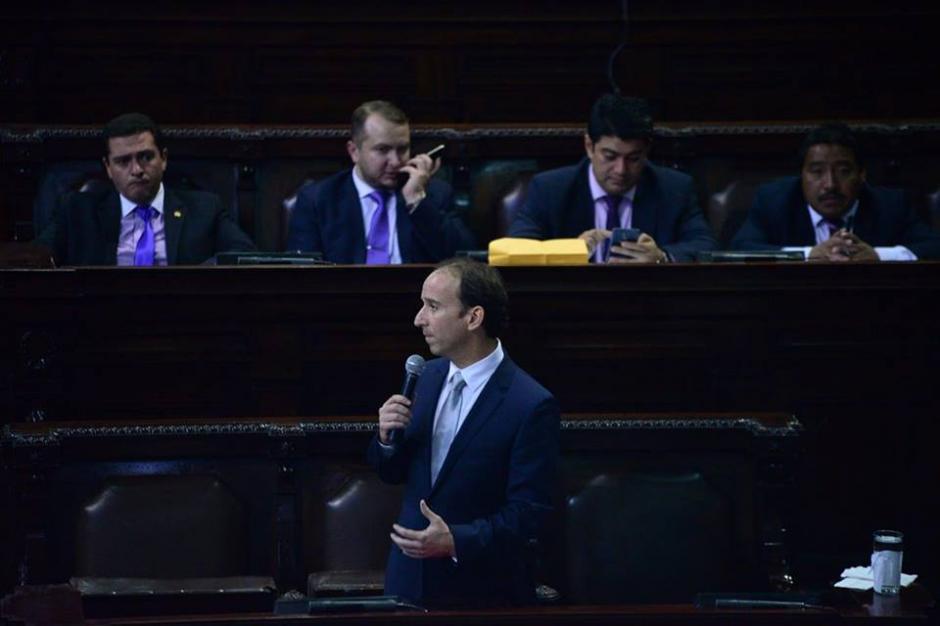 Durante la sesión el Procurador de los Derechos Humanos presentó un informe anual de labores. (Foto: Wilder López/Soy502)