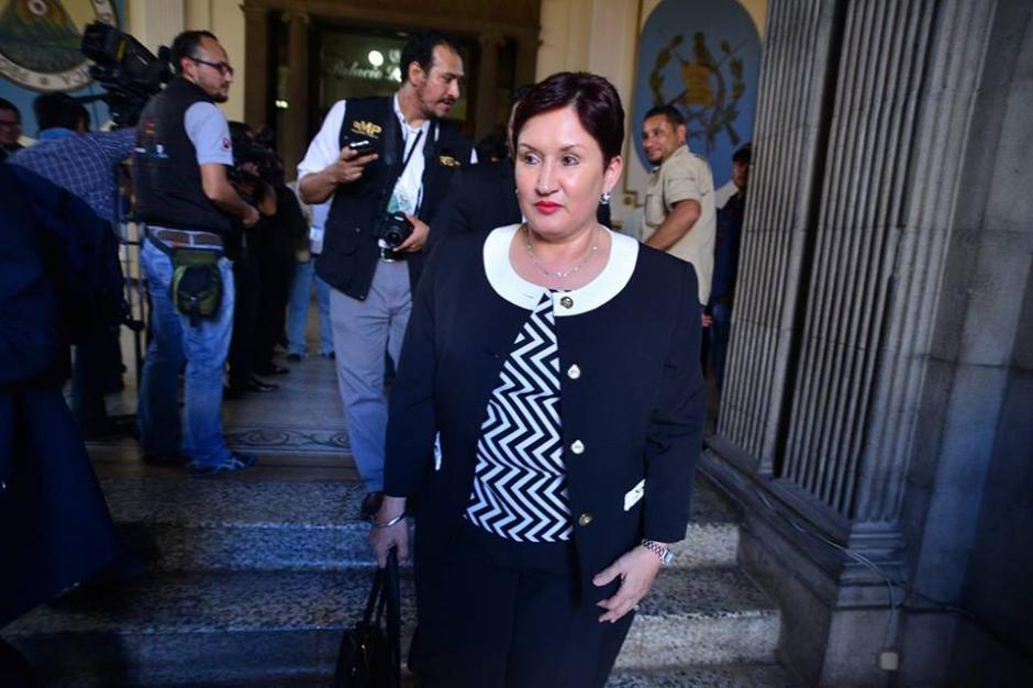 La fiscal General del MP acudió a la sesión para observar las reformas a la Ley de la fiscalía. (Foto: Wilder López/Soy502)