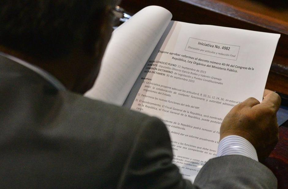 Solamente 8 de 63 artículos fueron aprobados en la Ley del MP. (Foto: Wilder López/Soy502)