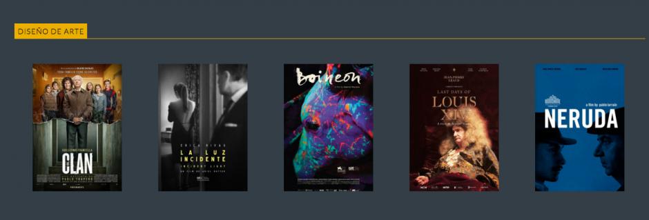 Estos son los nominados a Mejor diseño de arte. (Foto: Premios Fenix oficial)