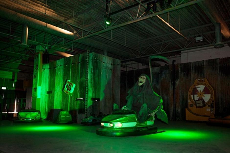 The Grim Reaper, que tiene a la representación de La Muerte sobre los carros chocones. (Foto: The Guardian)