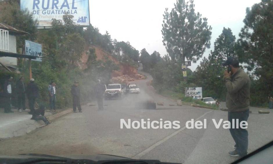 Las entradas al municipio estuvieron bloqueadas. (Foto: Noticias del Valle/Facebook)