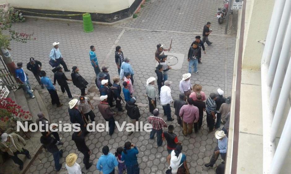 El enfrentamiento se registró en el centro de San Miguel Ixtahuacán. (Foto: Noticias del Valle/Facebook)