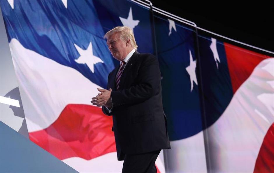 Durante la reunión a la que asistió el diputado guatemalteco, Donald Trump fue proclamado como candidato presidencial. (Foto: EFE)