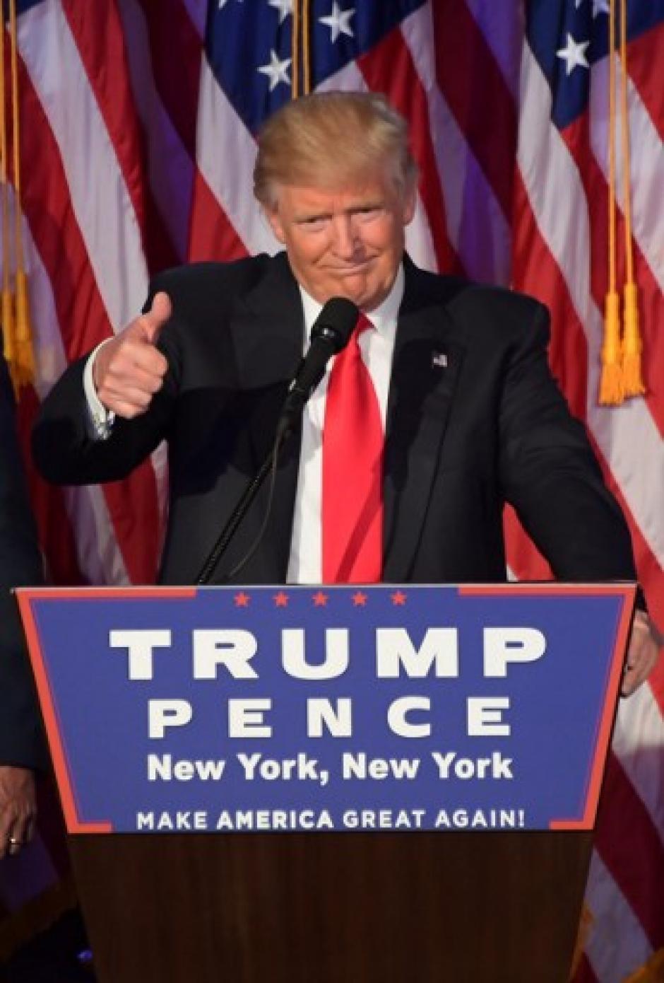 Donald Trump prometió que no defraudará a los estadounidenses y que estará en la Casa Blanca por 8 años. (Foto: AFP)