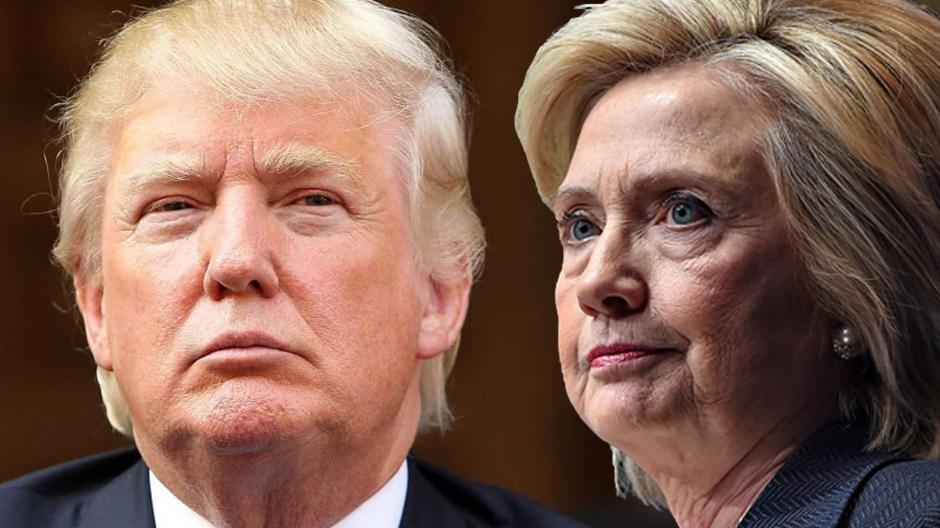 La contienda entre Trump y Clinton es reñida. (Foto: hondudiario.com)