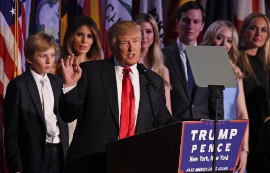 Donald Trump fue electo como el nuevo presidente de los Estados Unidos. (Foto: AFP)