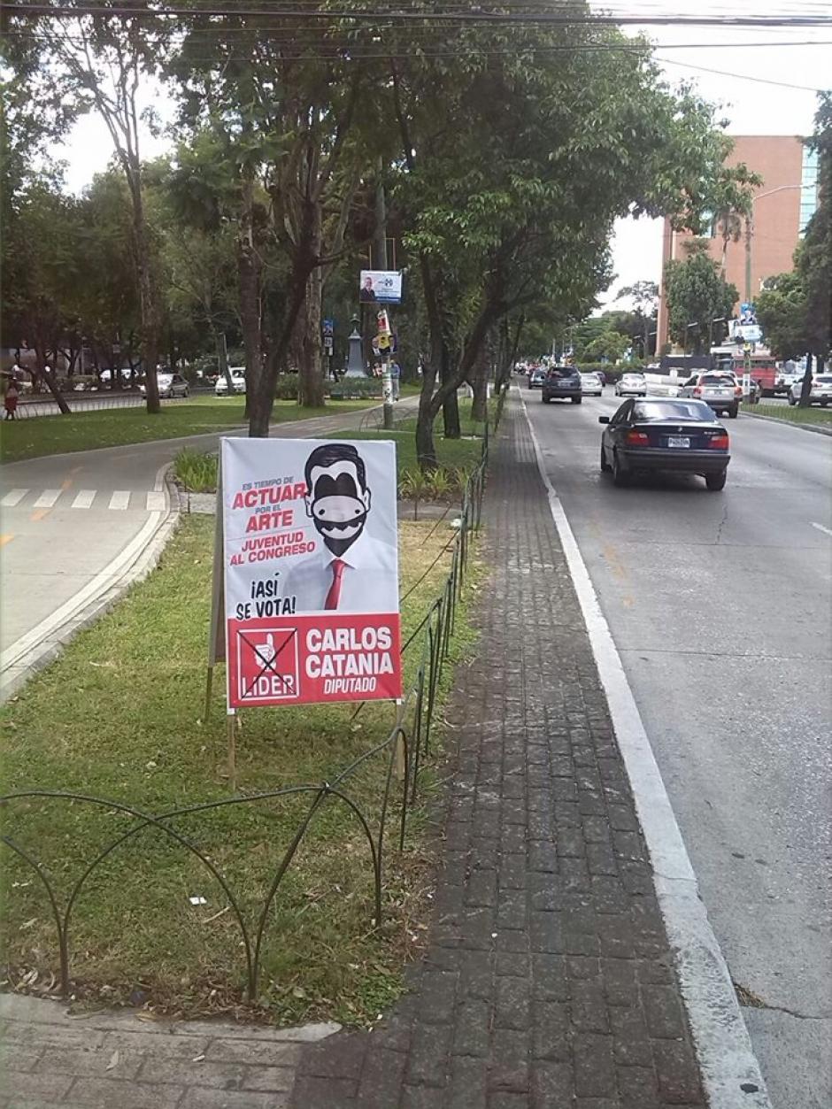 La Avenida Reforma y otros sectores de la capital han sido tomados por este artista visual. (Foto: Dopezilla)