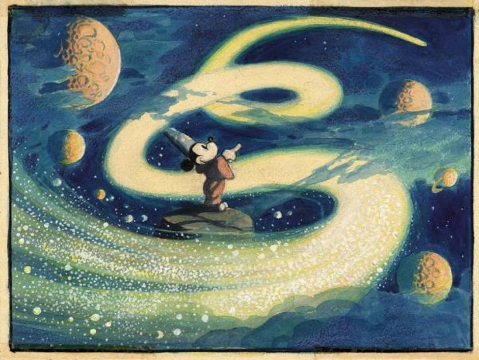 "Un boceto para ""Fantasía"" o ""The Sorcerer's Apprentice"" de 1940.  (Foto: infobae.com)"