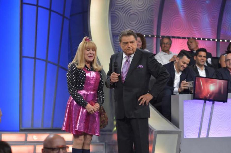 """Una de las actuaciones más sentida fue la de su compatriota, la chilena Gloria Benavides, conocida en el programa como """"La Cuatro"""".(Foto: Univisión)"""