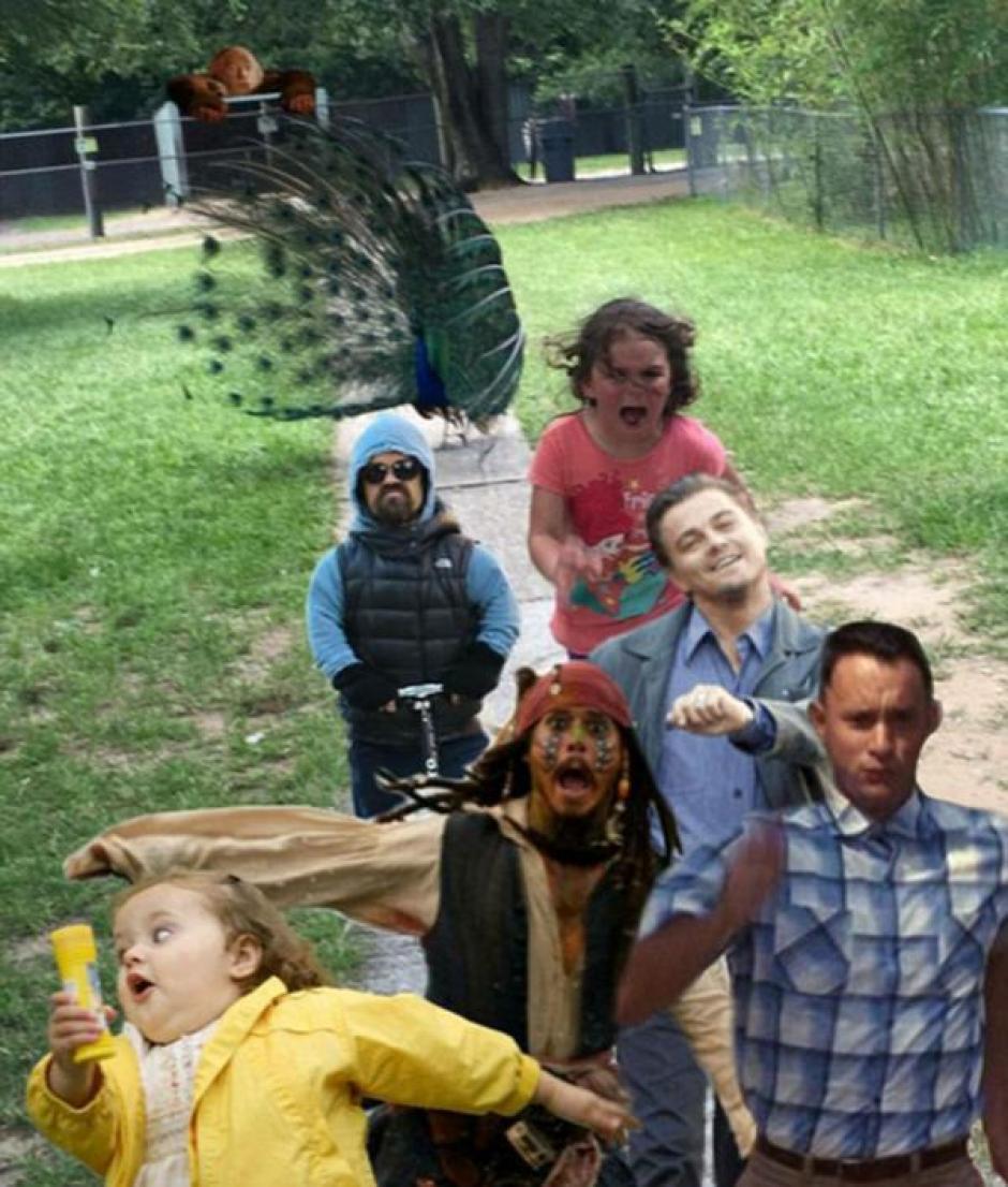 Y la menor acompañada de varios actores. (Foto: Infobae)