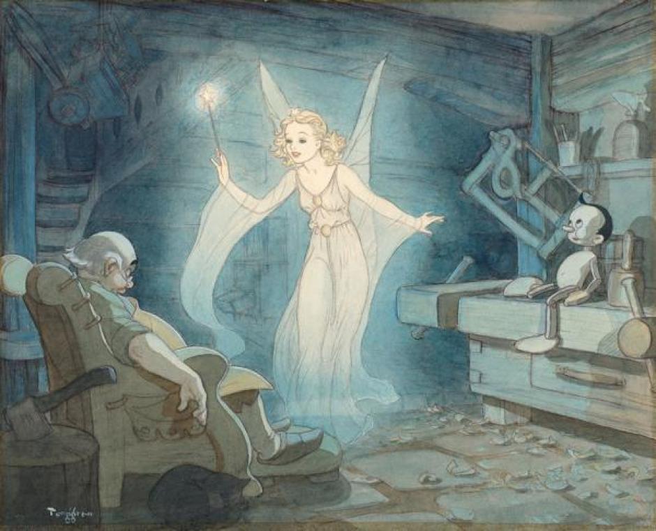 Ilustración del hada azul por Gustaf Tenggren (1940). (Foto: infobae.com)