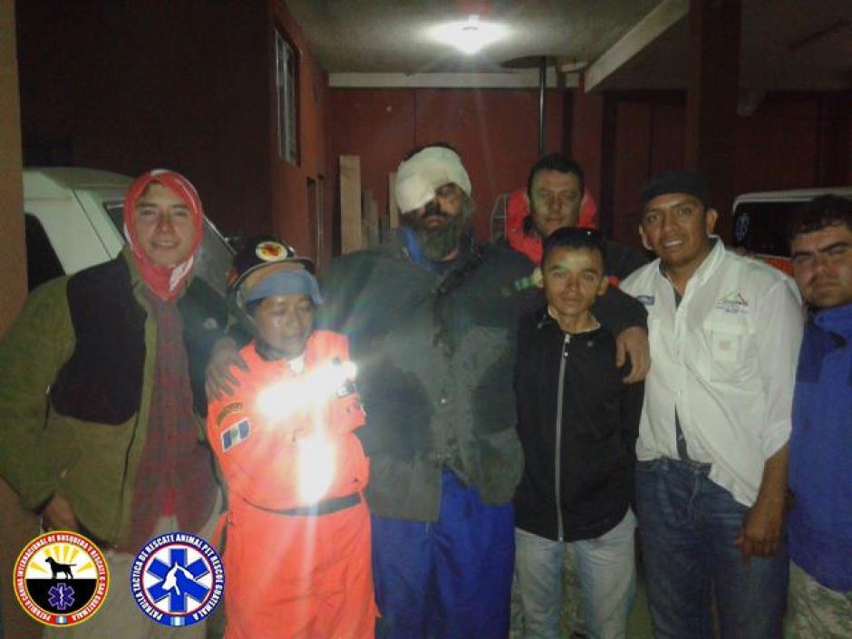 Unas 15 personas participaron en el rescate. (Foto: K-SAR Guatemala)