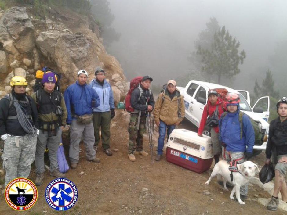Junto al equipo de rescatistas, drago trabajó durante horas. (Foto: K-SAR Guatemala)