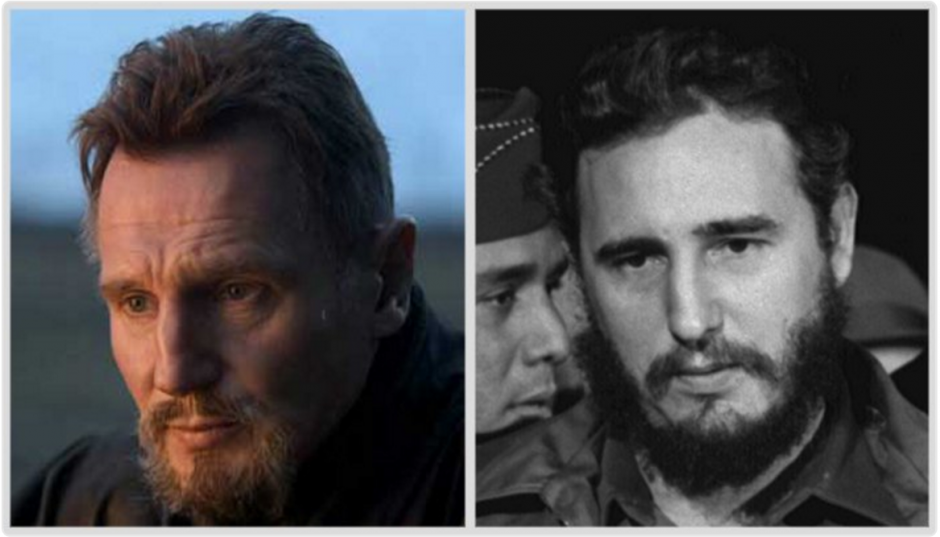 Los tuiteros comparan a Fidel Castro y a Liam Neeson. (Foto: @DrBeauBeaumont/Twitter)